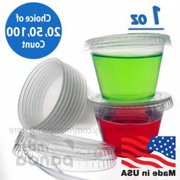 1 oz Small Jello Jelly Shot Souffle Portion Cups with Lids O