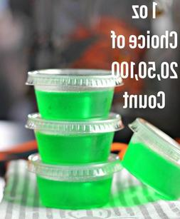 1oz Jello Jelly Shot Souffle Portion Sample Cups with Lids O