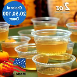 2 oz Large Jello Jelly Shot Souffle Portion Cups with Lids O