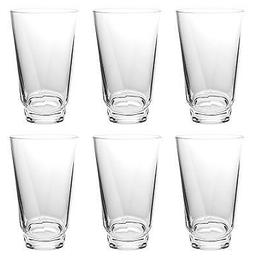QG 22 oz Clear Acrylic Plastic Water Cup Drinking Glass Twis