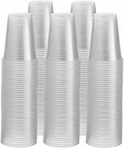 2Pack 7 oz Clear Plastic Drinking Cups, Disposable, 2X100=20