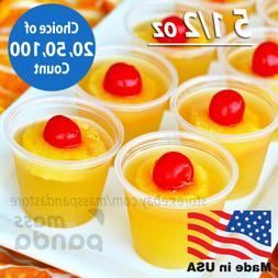 5 1/2 oz Extra Large Jello Jelly Shot Portion Cups w/ Lids O