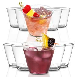 Crystal Clear Disposable Plastic Party Cups Heavy Duty Tumbl