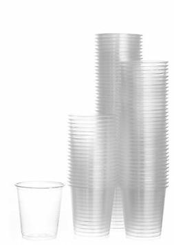 Disposable Plastic Cups Small, Clear 3.5 oz. Snack & Drink S