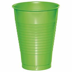 Fresh Lime Green 12 oz Plastic Cups for 20 Guests