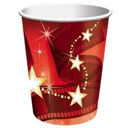 Hollywood Lights 9 oz Hot/Cold Cups 8 Pack Movie Red Carpet