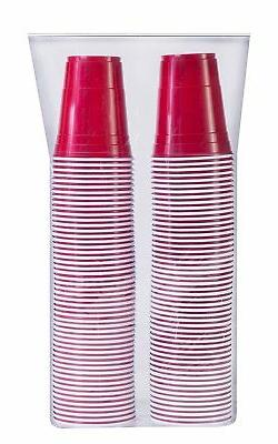 Solo Party Red Plastic Cold Drinking 16 oz Cups - 100 ct.