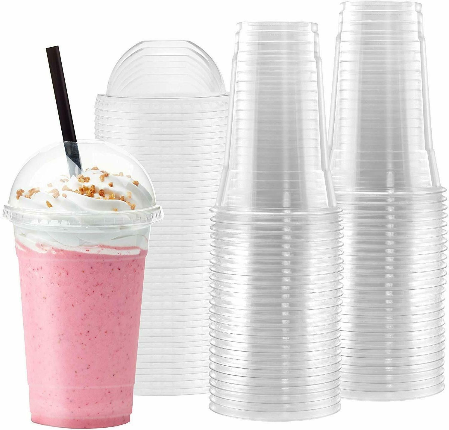 plastic cups with dome lids 10 sets