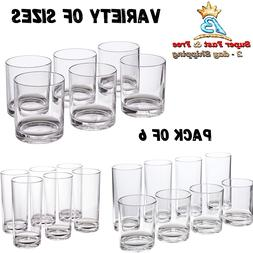 Plastic Tumblers Set Clear Drinking Cups BPA Free Shatter Pr